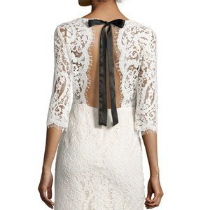 Nicole Miller New York lace-overlay dress